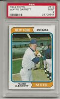 SET BREAK - 1974 TOPPS # 510 WAYNE GARRETT, PSA 9 MINT, NEW YORK METS, L@@K