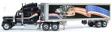 Franklin Mint 379 Peterbilt Truck & Trailer 1/32 Scale Diecast Model