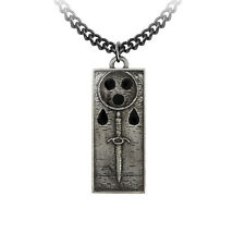 GENUINE Alchemy Gothic Necklace - Death Tally Ingot   Men's Alternative Pendant