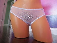 Victoria's Secret!! BRIDE White Crystals Bikini Panties SIZE:MEDIUM+BLING