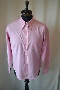 Vintage Woman's Ben Sherman pink shirt size 14 casual mod classic