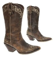 CRUSH DURANGO Cowboy Boots 7.5 Womens Leather Vintage Western Embroidered Boots