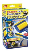 Sticky Buddy Reusable Sticky Picker Cleaner Roller Cat Dog Hair Remover Brush