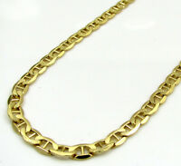 """26"""" 3.5mm 10k Yellow Gold Tight Mariner Anchor gucci Chain Necklace Mens"""