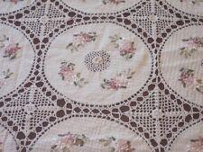 """72"""" x 108""""  Handmade Crochet Lace Tablecloth  COLOR BEIGE 100 % COTTON -"""