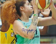 Amanda Zahui B Signed 8x10 photo Wnba Basketball New York Liberty Free Shipping