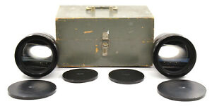 RARE 2x 35NAP-2-3 80-110mm 1:1.8 Anamorphic Movie Lenses w/ Wooden Case! AS IS!