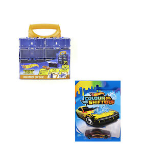 Hot Wheels Sammelkoffer Vitrine 8ter + Colour Shifters Car GBF43 Muscle Tone