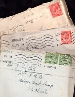 GB KGV 3 x Postal History covers collection WS7391