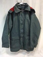 VTG Woolrich Mens Medium Coat Jacket Removable Wool Liner Hood Gray Parka USA