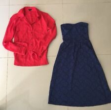 U GET BOTH ASOS BLUE STRAPLESS DRESS & TOKITO AS NEW RED TOP Size 6 FREE POST