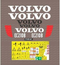 Volvo EC210B Excavator Decal / Adhesive / Sticker Complete Set