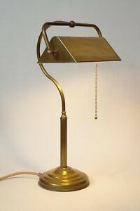 Klassische Bankerlampe Messinglampe Berlin Kontorleuchte Arbeitsleuchte 70er