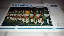 POSTER GIGANTE Argentina '78  Squadra Messico / Mexico    cm 70 50 circa.