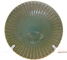 EUC WORLD MARKET GREEN SCALLOPED RIMMED EMBOSSED DEEP DINNER PLATE 11 INCHES