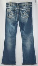"""EUC Silver Jeans Womens Suki Bootcut Blue Stretch size 30Wx32L (HEMMED to 30"""")"""
