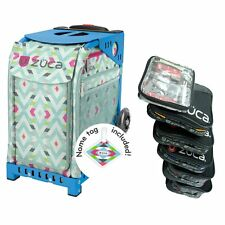 Zuca Chevron Sport Insert Bag with Blue Frame, and PRO Packing Pouch Set