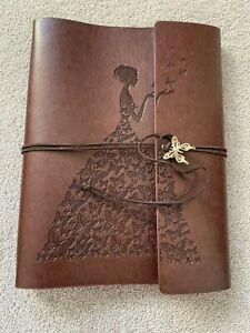 BN Refillable Leather Look Blank Journal Sketchbook