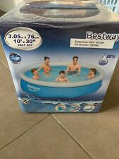 Bestway Large 10ft Family Swimming Pool Fast Set  Outdoor Summer Easy Paddling