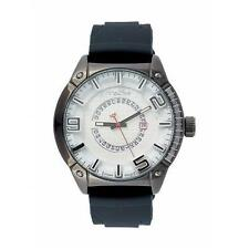 Silicone/Rubber Band Casual Round Watches with 12-Hour Dial