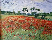 "Van Gogh Replica Oil Painting - Field-of-Poppies - size 36""x28"""