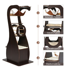 New listing Modern Design Cat Tree Condo Kitten Play Tower Furniture with Sisal Scratches