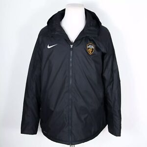 NEW Nike Black Shield Cleveland Cavaliers Storm Fit Hooded Jacket XXL