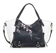 Desigual Bols Rotterdam Mini Blossom Tasche Handtasche Umhängetasche Negro