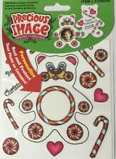 PEPPERMINT TEDDY BEAR Stickers Precious Image Transfers For Ceramics•Add Photo••