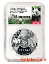 2016 ANA Show Chinese Panda NGC PF69 Special Label Commemorative Oz Silver China