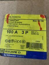 New Square D PowerPact Circuit Breaker. Hgl36100U31X