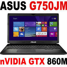 "ASUS G750JM nVIDIA GTX 860M 17.3"" FHD Quad i7-4710HQ GAMING LAPTOP G751"