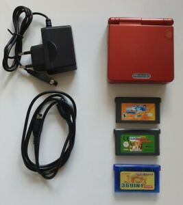 GAMEBOY Advance SP /GBA incl. Spiele + Linkkabel + Ladekabel