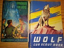 Vintage Cub Scout and Wolf and handbook for boys Boy Scouts handbooks scouting