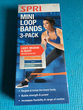 SPRI Mini LOOP BAND 3 Pack, light, medium and heavy resistance Bands Brand New