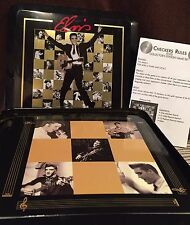 COLLECTORS? 2004 USAOPOLY ELVIS CHECKERS TIC TAC TOE GAMES New In Tin-NOT Played