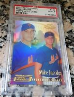 MIKE JACOBS 2001 Topps Fusion GOLD Rookie Card RC SP PSA 9 MINT New York Mets