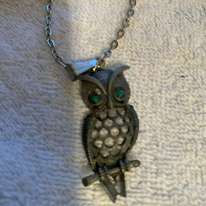 OWL Pendant owl Necklace White owl Jewelry Necklace for him Art Gifts for Her for Men Art Gifts,RN188
