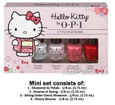 "OPI Nail Polish ""HELLO KITTY LITTLE BLOSSOMS LTD EDT. 4pc Mini Set""  New in Box!"