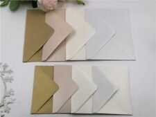 Wedding Invitation Card Envelopes Square Rectangle Pearl Hollow Multi Color 4Pcs
