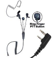 3-Wire Earpiece Headset Microphone Kenwood Linton Puxing TC620 Relm Wouxun K1