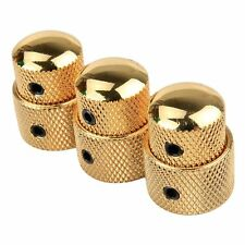 3pcs Golden Stacked Dual Control Knob Concentric Set for Guitar Bass Part