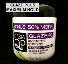 ELASTA QP MAXIMUM HOLD GLAZE CONDITIONING SHINING GEL SHINES AND DEFINES 6oz