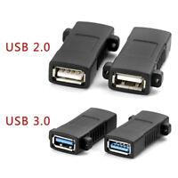 1Pc USB 2.0 3.0 Standard Female To Female Socket Panel Mount Adapter ConneRKUS