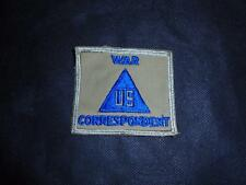 Genuine WW2 US War Correspondent Khaki Pattern Civilian Uniform Badge Patch