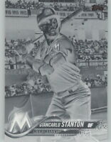 Giancarlo Stanton 2018 Topps Series 1 BLACK & WHITE NEGATIVE Marlins #100