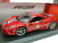 Bburago 1 18 Ferrari Automodello metallo Vasta Gamma con firma Serie 458 Speciale
