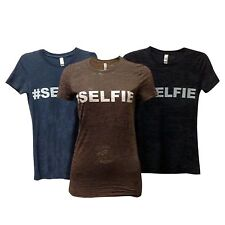 Wholesale Lot 24 Women's Burnout T Shirt Next Level #6500 Printed Text SELFIE