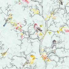 ORNITHOLOGY BIRDS WALLPAPER BLUE - HOLDEN 98061
