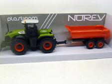 431000 Norev 1:43 Claas Xerion 5000 Traktor mit Anhänger 30cm